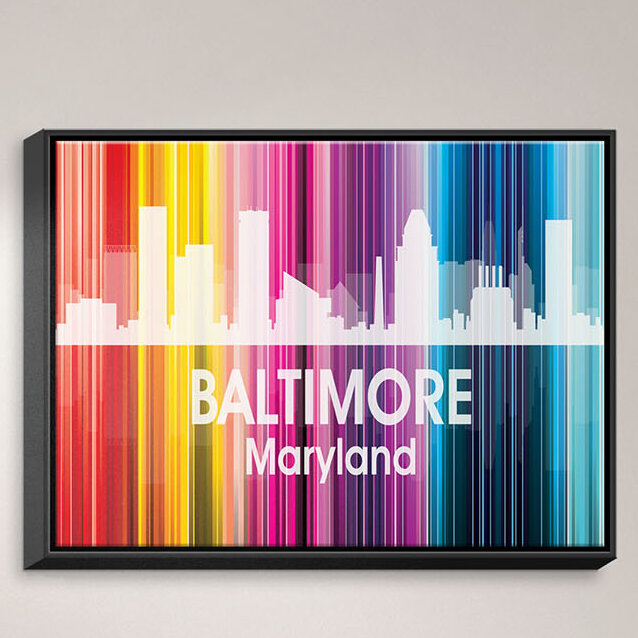 Dianochedesigns City Ii San Francisco California Framed Graphic Art Print On Wrapped Canvas Wayfair