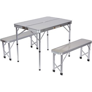Trademark Innovations 3 Piece Picnic Table Set