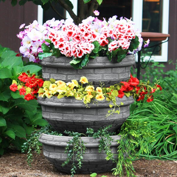 Round Plastic Pot Planter