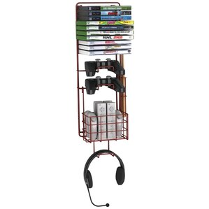 Rebrilliant Game Multimedia Wall Mounted Storage Rack