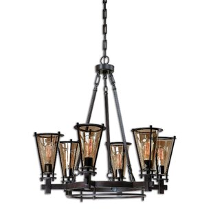 Williston Forge Shelbie 6-Light Shaded Chandelier