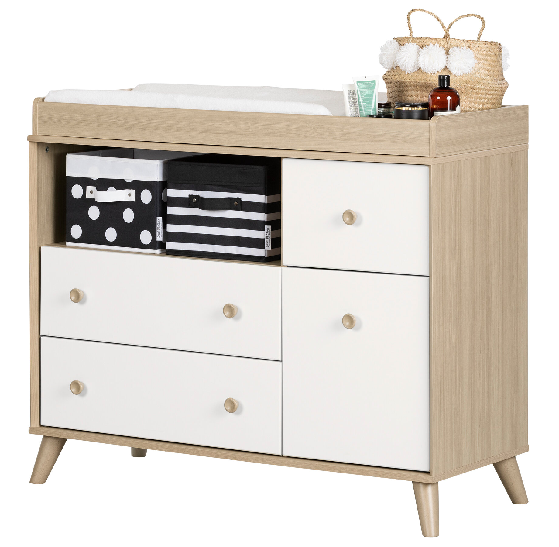 Image of: Abbeville Changing Table Dresser Reviews Allmodern