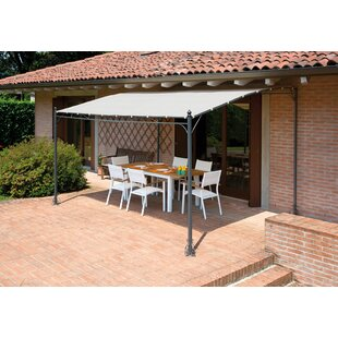 Palanga Wall 4m X 3m Metal Pergola By Sol 72 Outdoor