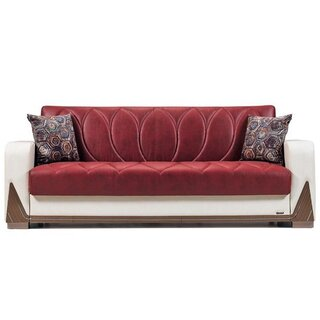 Bugatti Convertible Sleeper Sofa, Red/White by Orren Ellis SKU:DB962714 Order