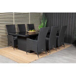 Mabton 6 Seater Dining Set With Cushions By Sol 72 Outdoor