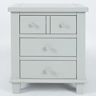 Ginns 3 Drawer Nightstand by August Grove