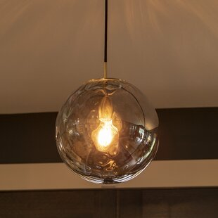 Bertha 1-Light Globe Pendant by Wrought Studio