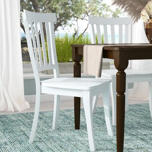 Beachcrest Home Zeinab Slat Back Solid Wood Dining Chair (Set of 2)