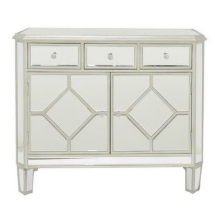 Center Drive Beveled Mirror 2 Door Accent Cabinet by House of Hampton