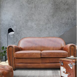 Paris Club Leather Loveseat