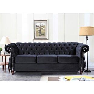 Velvet 826 Rolled Arm Sofa