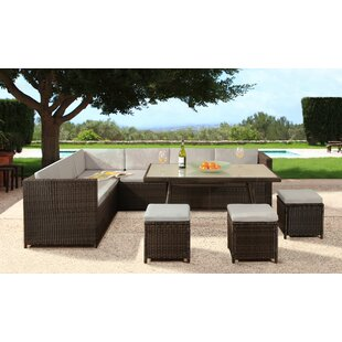 Lizette 9 Seater Rattan Corner Sofa Set With Cover By Sol 72 Outdoor