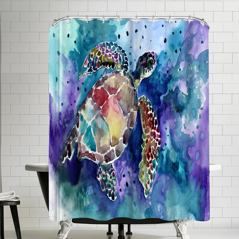 East Urban Home Suren Nersisyan Sea Turtle Single Shower Curtain Wayfair