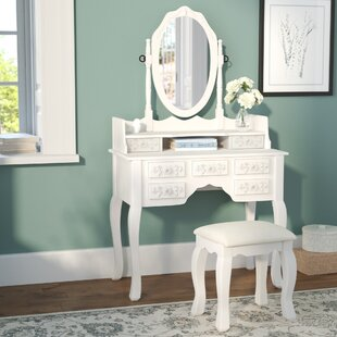 One Allium Way Provence Vanity Set with Mirror