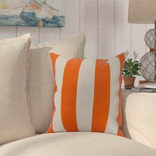 Crider Stripe Print Indoor/Outdoor Throw Pillow