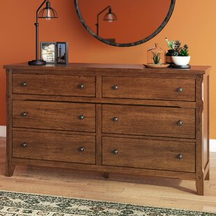 Loon Peak Goldfield 6 Drawer Double Dresser