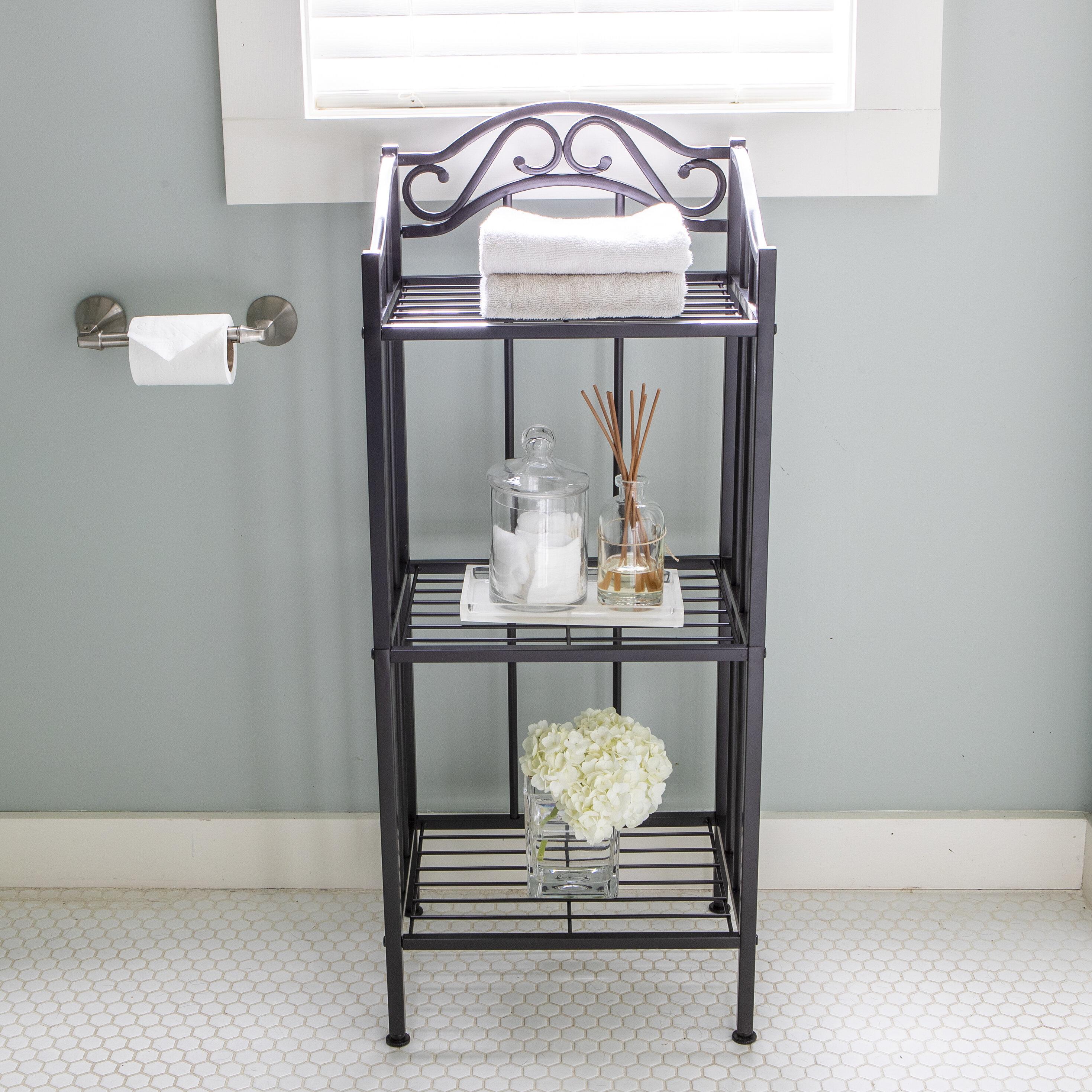 Canora Grey Paille 11 W X 36 H X 14 5 D Free Standing Bathroom Shelves Reviews Wayfair