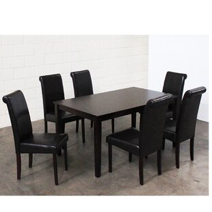7 Piece Solid Wood Dining Set by Warehous..