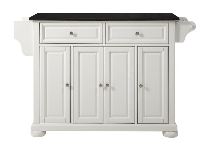 Chan Kitchen Island with Granite Top