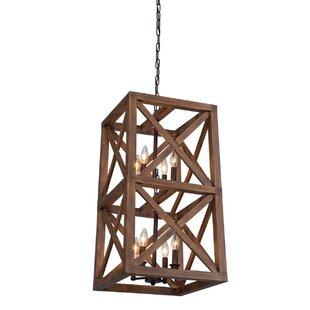 Gracie Oaks Kata 8-Light Square/Rectangle Chandelier