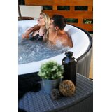 MSPA USA Delight Aurora 6 - Person Vinyl Round Inflatable Hot Tub in Gray