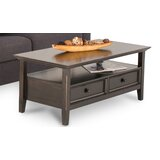 Mccoppin Solid Wood Coffee Table with Storage by Alcott Hill®