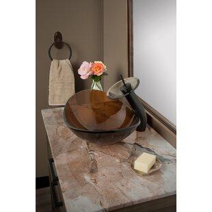 Slipper Glass Oval Vessel Bathroom Sink