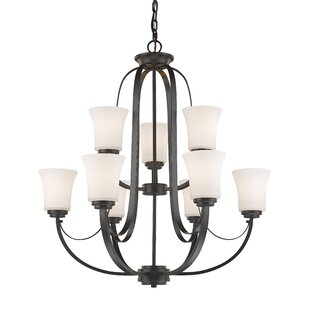 Winston Porter Whelan 9-Light Shaded Chandelier
