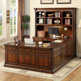 Darby Home Co Antoine 4 Piece U-Shape Desk Office Suite