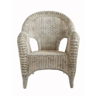 One Allium Way Georg Rattan Barrel Chair