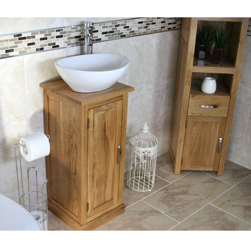 Crafton Compact Solid Oak 350mm
