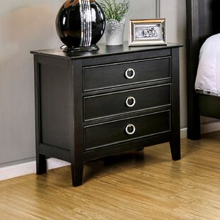 Inexpensive Newstead 3 Drawer Nightstand by Red Barrel Studio