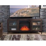Stenkil TV Stand for TVs up to 60 with Fireplace Included by Gracie Oaks