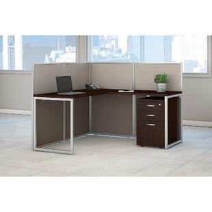 Bush Business Furniture Easy Office 60W L-Shape Desk Office Suite