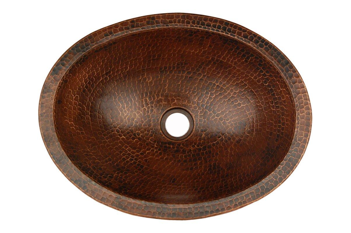 Premier Copper Productspact Skirted Oval Vessel Bathroom Sink