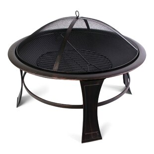 World Source Partners Savannah Steel Wood Burning Fire Pit