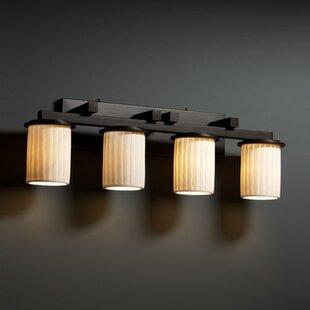 World Menagerie Bismark Cylinder Shade 4-Light Vanity Light