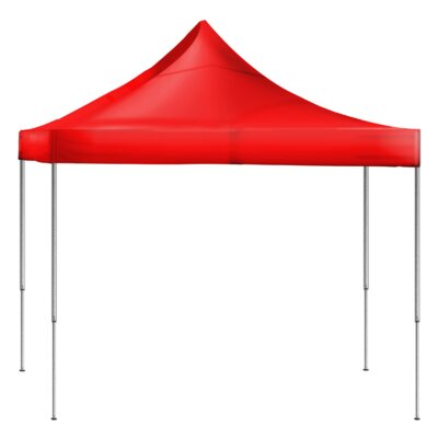 10 Ft. W x 10 Ft. D Steel Pop-Up Canopy Laguna Canopy Color: Red