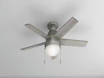 Hunter fan 46 anslee 5 blade ceiling fan reviews wayfair 46 anslee 5 blade ceiling fan aloadofball Gallery