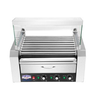 9 Roller Hot Dog Grilling Machine with Cover