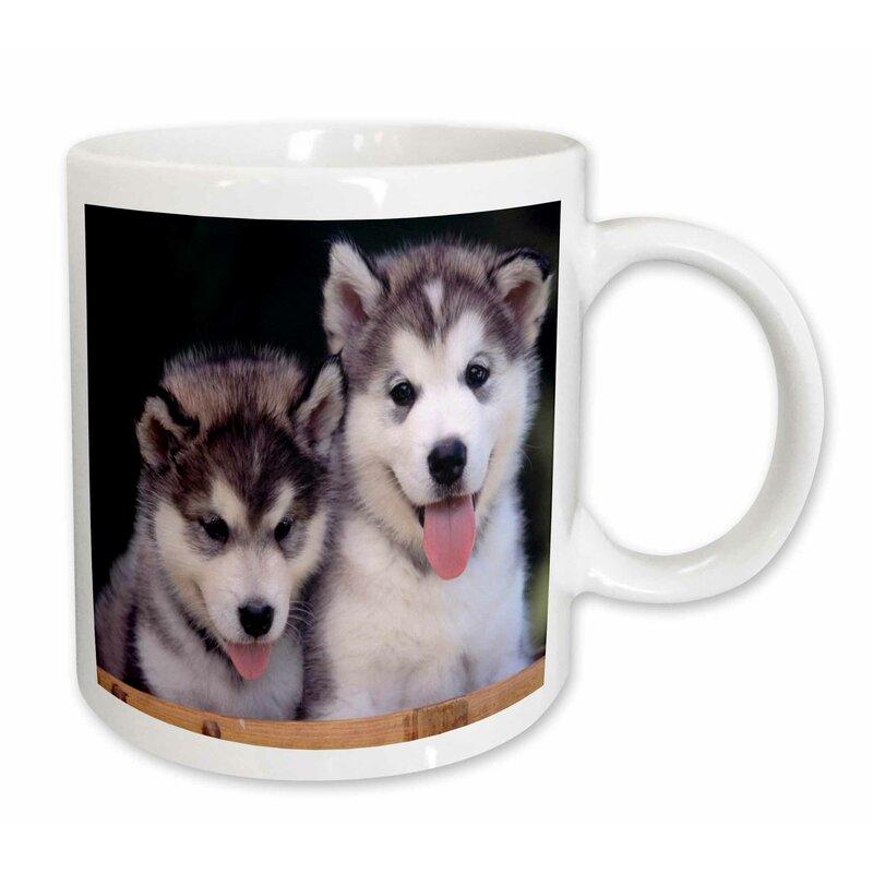 East Urban Home 2 Alaskan Malamute Puppies Coffee Mug Wayfair