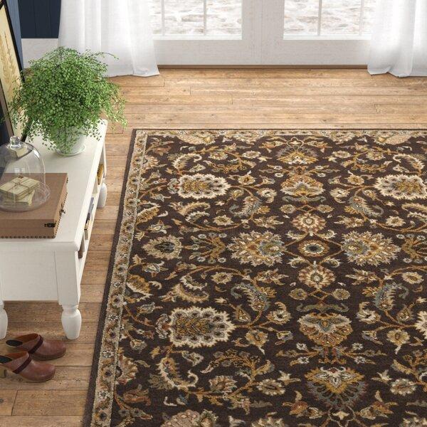 Birch Lane Oriental Handmade Tufted Wool Brown Area Rug Reviews Wayfair