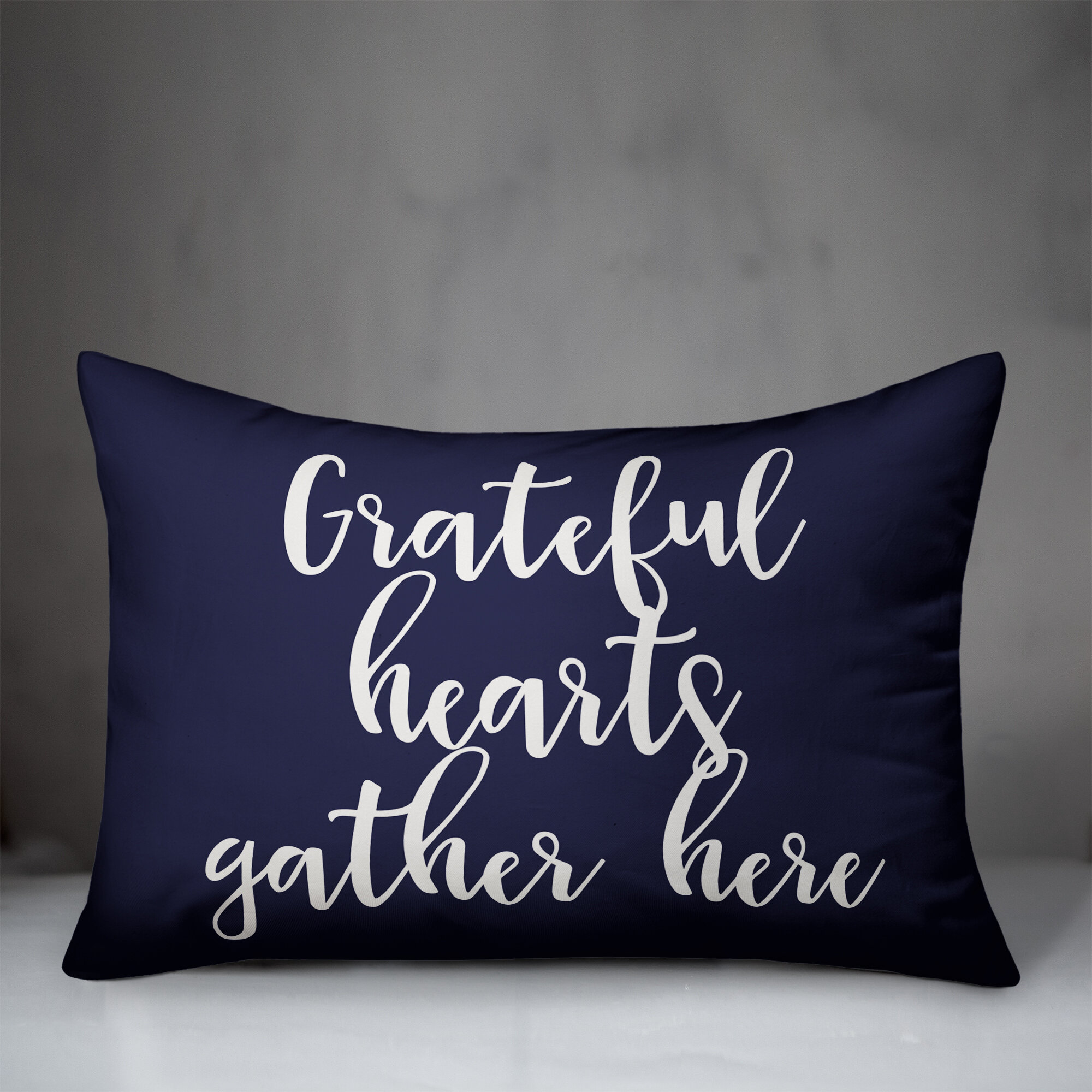 Winston Porter Northup Grateful Hearts Gather Here Lumbar Pillow Wayfair