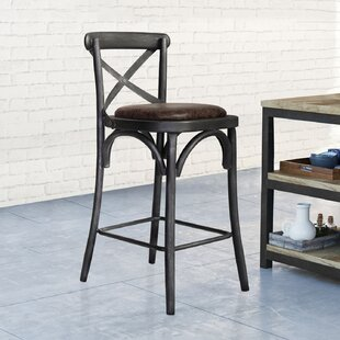 Annette Industrial Metal 37.8 Bar Stool by Rosalind Wheeler