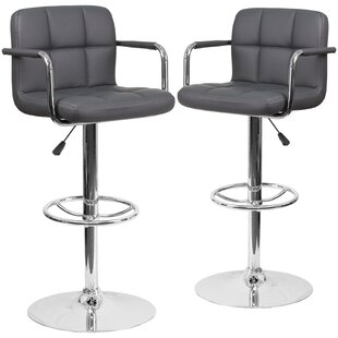 Cullison Adjustable Height Swivel Bar Stool (Set of 2) Orren Ellis