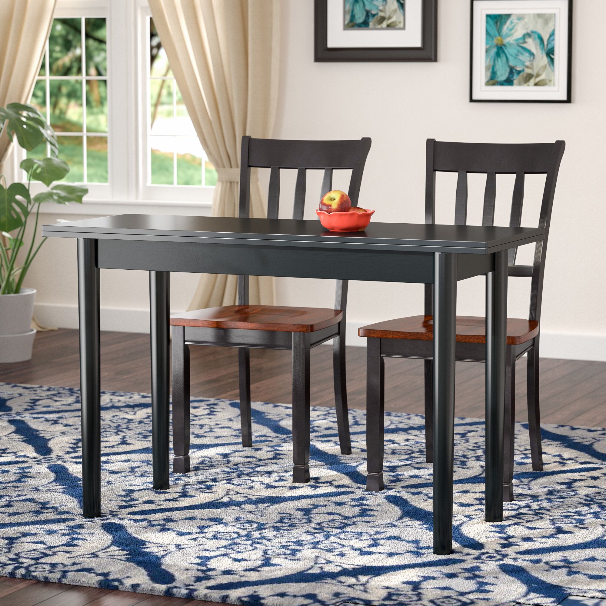 Andover Mills Parkison Flip Top Extendable Dining Table Reviews Wayfair