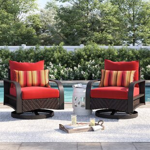 Cerralvo 2 Piece Motion Patio with Cushion by Sol 72 Outdoor