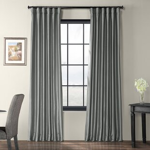 fecc999c0 Lochleven Faux Silk Taffeta Solid Room Polyester Darkening Single Curtain  Panel