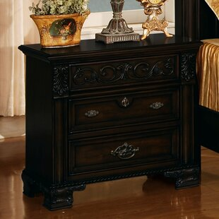 Kensington 3 Drawer Nightstand by Wildon Home®