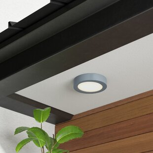 Johnstone LED Outdoor Flush Mount by Orren Ellis